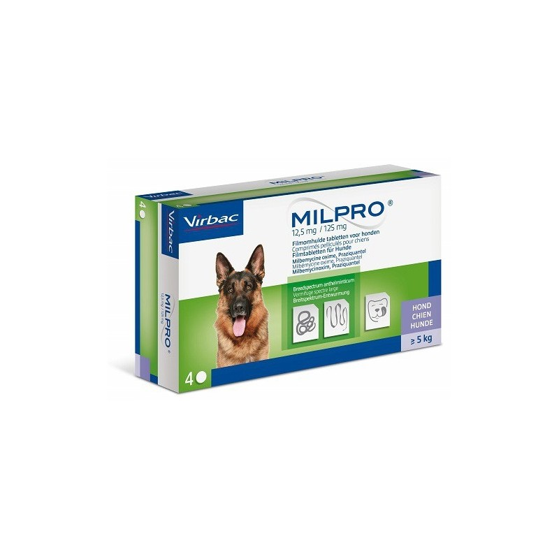MILPRO PERRO 12.5/125MG 4COMP.