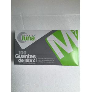 GUANTE LATEX LUNA C/POLVO T-M 100UD.