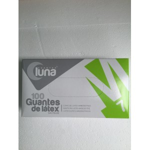 GUANTE LATEX LUNA S/POLVO T-M 100UD.