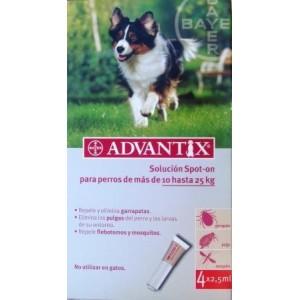 ADVANTIX PERRO 2,5ML 4 PIPETAS (10-25KG)