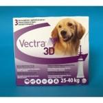PIPETAS VECTRA 3D L 25-40KG. 3PIP.