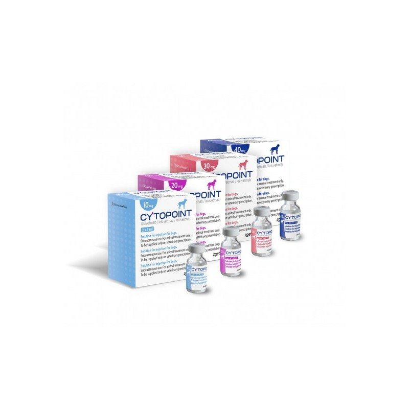 CYTOPOINT 30MG 2 VIALES X1ML INY. 20-30 KG*