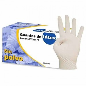 GUANTE LATEX S/POLVO T-S 100UD