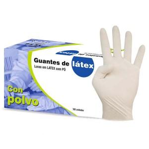 GUANTE LATEX T-M 100UD